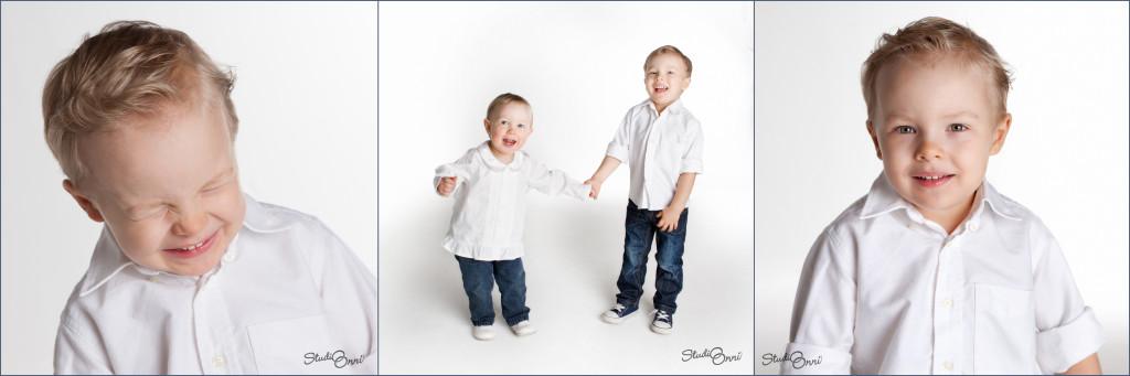 Vaikka kolmevuotikuvauksessa oli mukana kassillinen (tai kaksi) tavaraa, niin saatiin myös kuvia ilman rekvisiittaa.